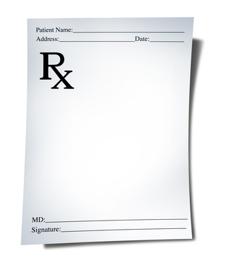 What is a prescription for Template for prescription pad